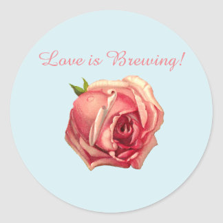 Love is Brewing: Tea Party Bridal Shower Sticker