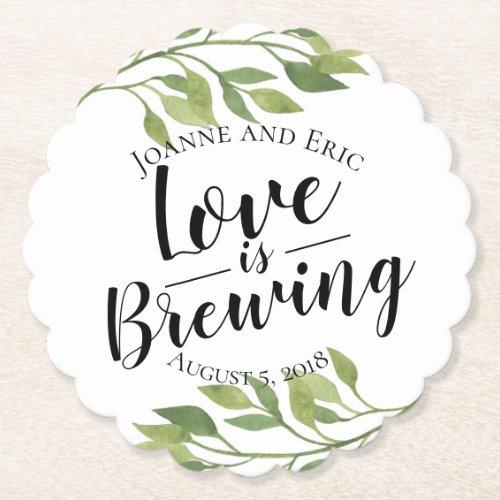 love is brewing wedding pub custom coaster