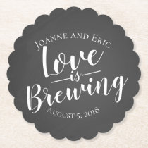 love is brewing wedding pub custom coaster