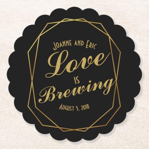 love is brewing wedding pub custom coaster art dec