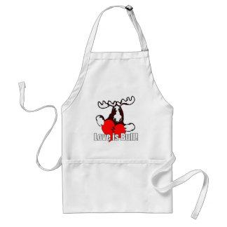 Love is bull adult apron