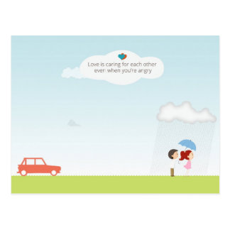 Love Is Caring For Each Other Postcard