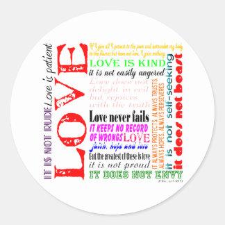 Love is... classic round sticker