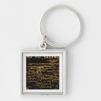 Love is color blind - Starnight Dreams Silver-Colored Square Keychain