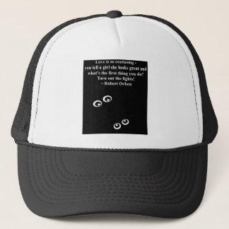 love is confusing trucker hat