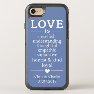 Love Is … custom names, date & color phone cases