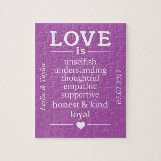Love Is … custom names, date & color puzzle