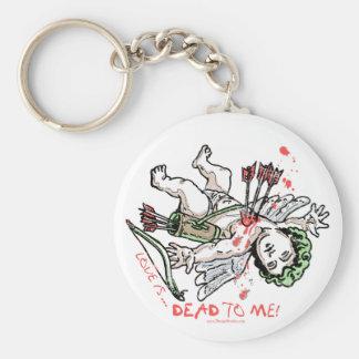 Love is Dead to Me Anti Love Gear Keychain