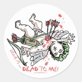 Love is Dead to Me Anti Love Gear Classic Round Sticker