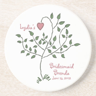 Love is deeply rooted Bridesmaid Coaster