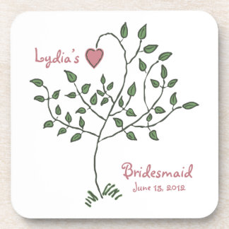 Love is deeply rooted Bridesmaid Coaster Set