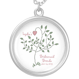 Love is deeply rooted Bridesmaid Necklace