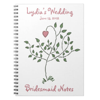 Love is deeply rooted Bridesmaid Notebook