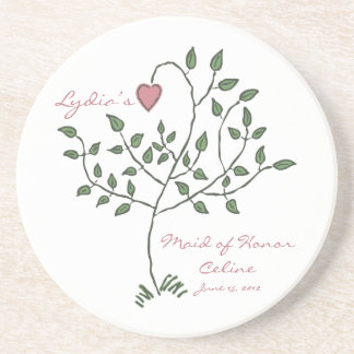 Love is deeply rooted Maid of Honor Coaster
