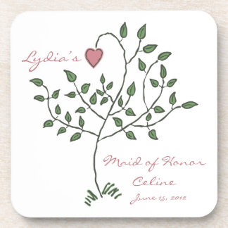 Love is deeply rooted Maid of Honor Coaster Set