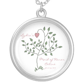 Love is deeply rooted Maid of Honor Necklace