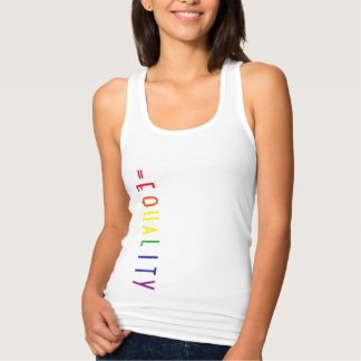 Love Is Equal Celebrate Marriage Equality Tank Top