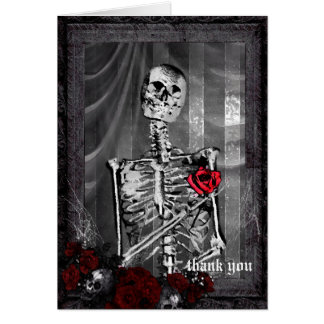 Love Is Eternal Gothic Wedding Thank You Card