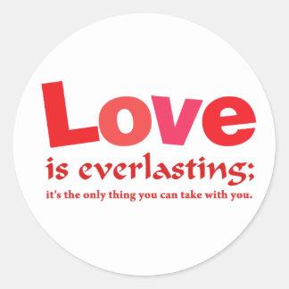 Love Is Everlasting Classic Round Sticker