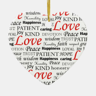 Love is Everything Ceramic Ornament