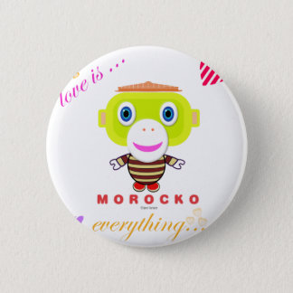 love is everything-Cute Monkey-Morocko Pinback Button