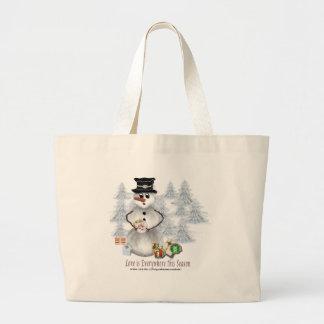 Love is Everywhere Snowman Bag