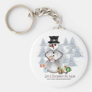Love is Everywhere Snowman Keychain