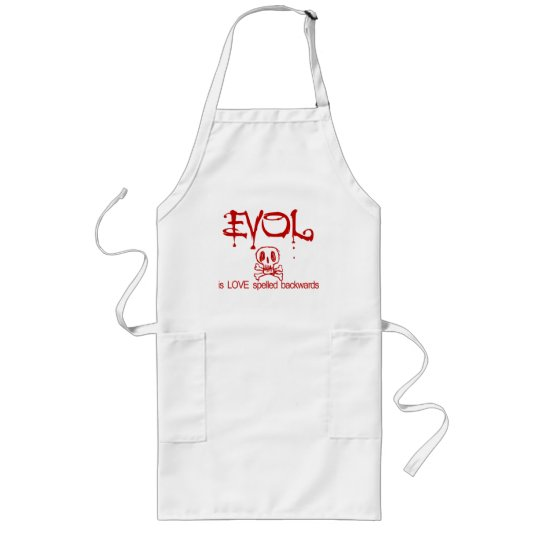 Love is Evil Long Apron