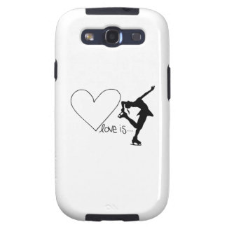 Love is Figure Skating, Girl Skater & Heart Samsung Galaxy SIII Cases