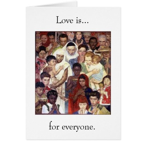 Love is...for everyone greeting card
