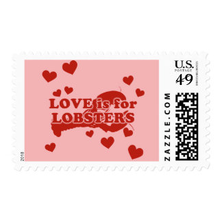 Love Is For Lobsters Postage