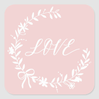 Love is for Lovers Square Sticker