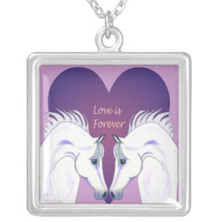 Love Is Forever Arabian Horse Necklace