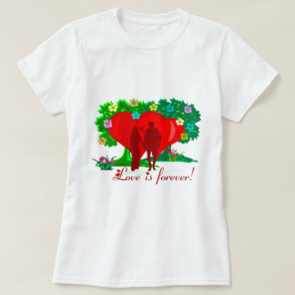 LOVE IS FOREVER BABY DOLL SHIRT