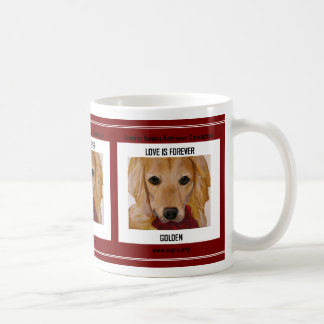 Love is Forever Golden Classic White Coffee Mug
