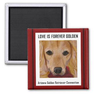 Love is Forever Golden Magnet