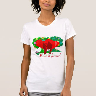 LOVE IS FOREVER LADIES DESTROYED T-SHIRT