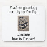 Love is forever line mouse pads