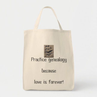 Love is forever line tote bag