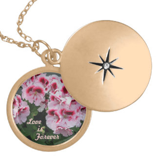 Love is Forever Pelargonium Necklace