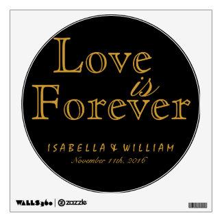 Love is Forever Vintage Black Wedding Sticker
