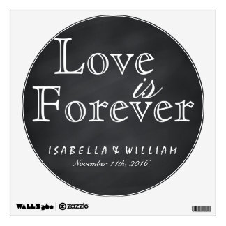 Love is Forever Vintage Chalkboard Wedding Sticker