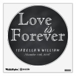 Love is Forever Vintage Chalkboard Wedding Sticker Wall Decal