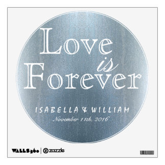 Love is Forever Vintage Wedding Sticker