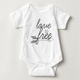 Love is Free baby onsie Tee Shirt