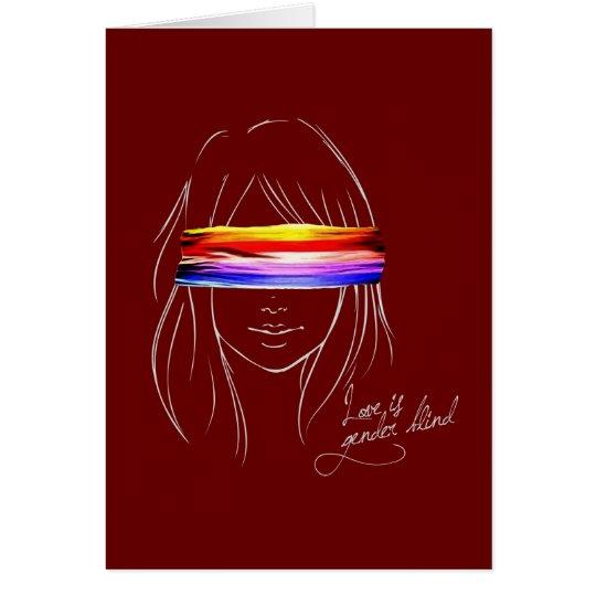 Love Is Gender Blind Card