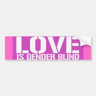 LOVE IS GENDER BLIND.png Car Bumper Sticker