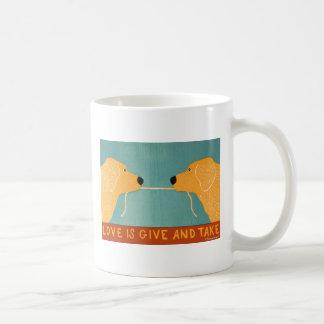 Love is Give and Take- Stephen Huneck Coffee Mug