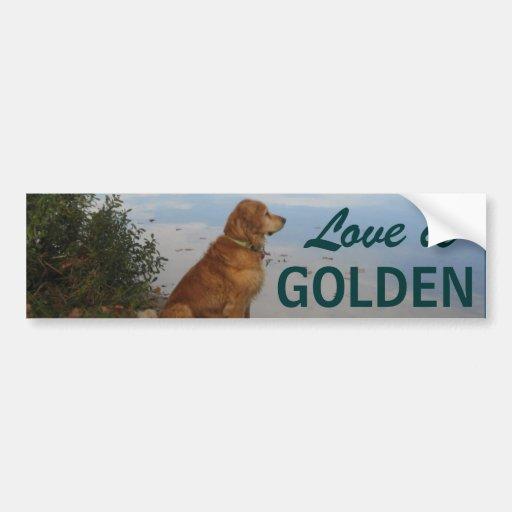 """Love is Golden"" Bumper Sticker"