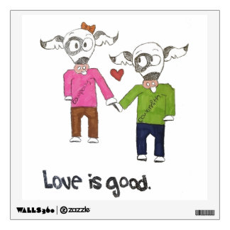 """""""Love is Good"""" Wall Decal"""